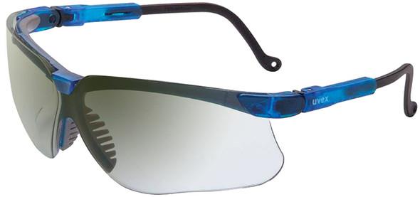 Uvex Genesis Safety Glasses with Vapor Blue Frame and Ref50 Lens S3244