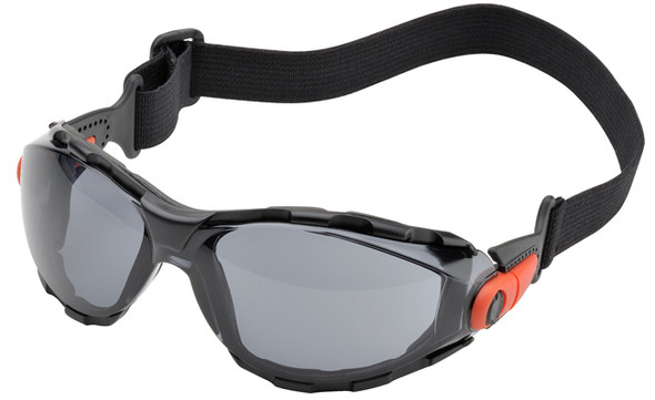 Elvex Go-Specs Safety Goggles with Black Frame, Foam Seal and Gray Anti-Fog Lens GG-41GAF