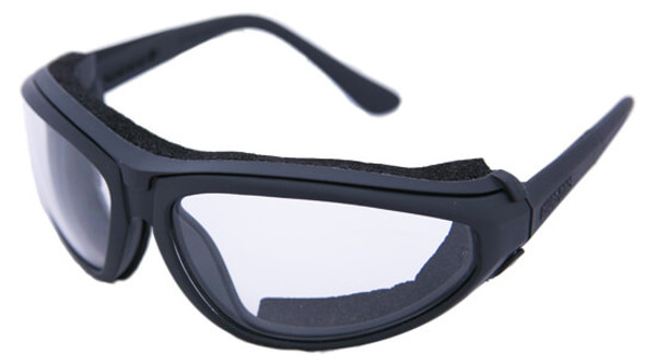 Guard Dogs XJ2 Complete with Black Frame and Clear Lens with Closed Cell Foam Collar 0211-11-01