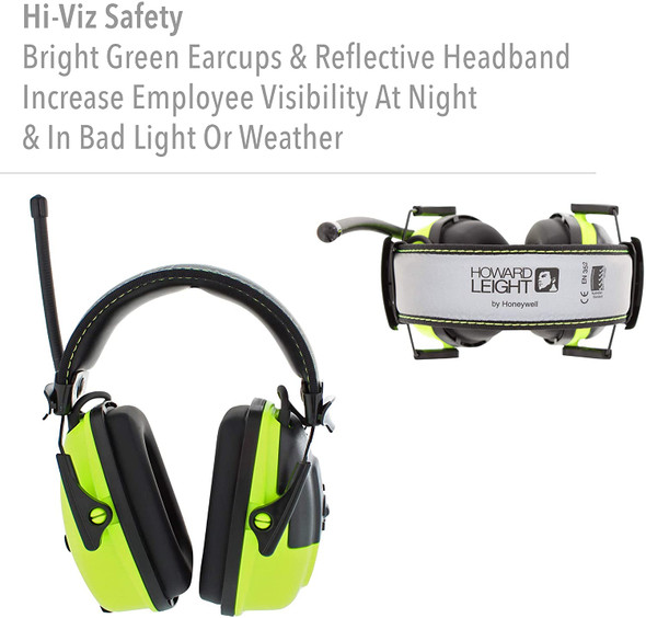 Howard Leight Sync Hi-Viz Digital Radio Ear Muff NRR 25 1030390 Features 1