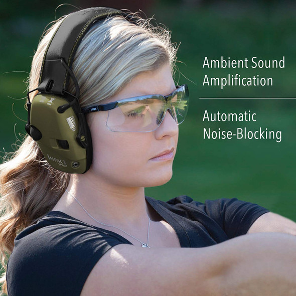 Howard Leight Impact Sport Ambient Sound Amplification and Automatic Noise-Blocking Ear Muff R-01526
