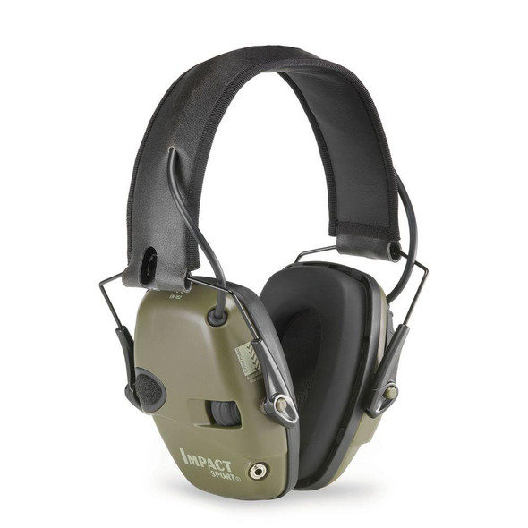 Howard Leight Impact Sport Electronic Ear Muff NRR 22, Classic OD Green R-01526