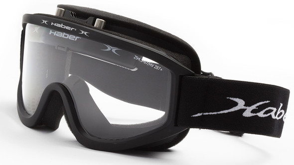 Haber Barrow Safety Goggle with Single Clear Lens and Eliminator Fan