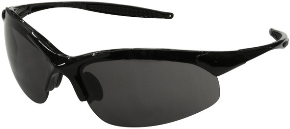 Radians Rad-Infinity Safety Glasses with Black Frame and Smoke Lens