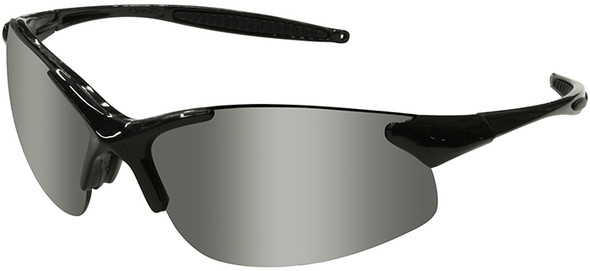 Radians Rad-Infinity Safety Glasses with Black Frame and Silver Mirror Lens IN1-60
