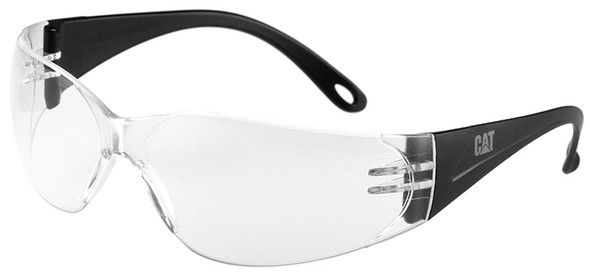 CAT Jet Safety Glasses with Black Frame and Clear Lens JET-100