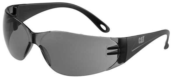 CAT Jet Safety Glasses with Black Frame and Smoke Lens JET-104