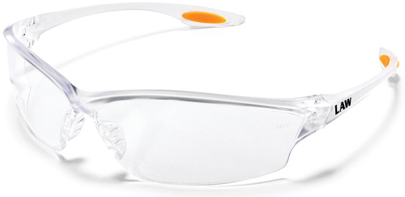 Crews Law 2 Safety Glasses with Clear Anti-Fog Lens LW210AF
