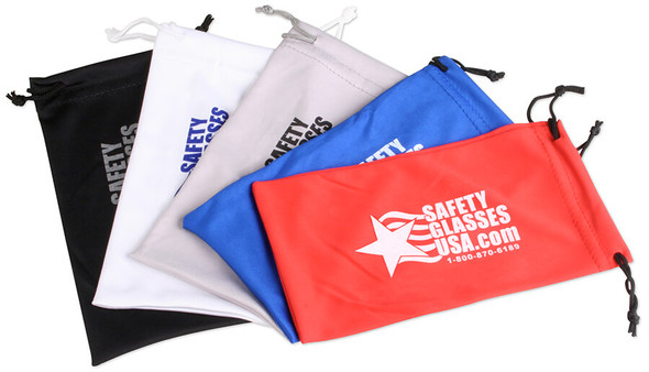 Microfiber Sunglasses Pouch with Safety Glasses USA Logo