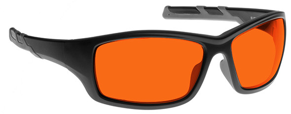 NoIR BluGard Deluxe Nighttime Eyewear with Black Frame and Orange Lens