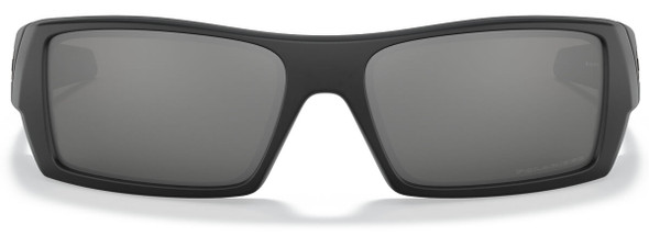 Oakley Gascan Sunglasses with Matte Black Frame and Black Iridium Polarized Lens 12-856 Front