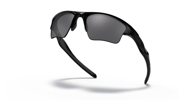 Oakley Half Jacket 2.0 XL Sunglasses with Polished Black Frame and Black Iridium Lenses OO9154-01 Profile View