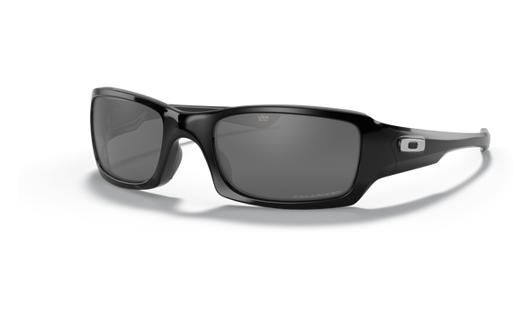 Oakley Fives Squared Sunglasses with Polished Black Frame and Black Iridium Polarized Lens OO9238-06