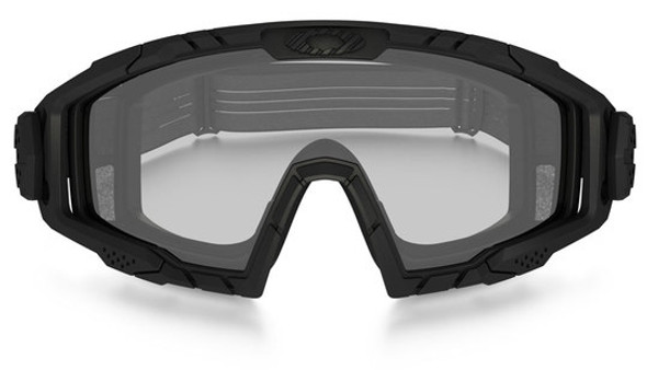 Oakley SI Ballistic Goggle 2.0 with Black Frame and Clear Lens - Front