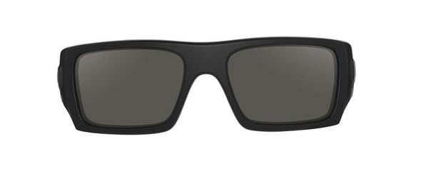 Oakley SI Ballistic Det Cord with Matte Black Frame and Grey Lens - Front