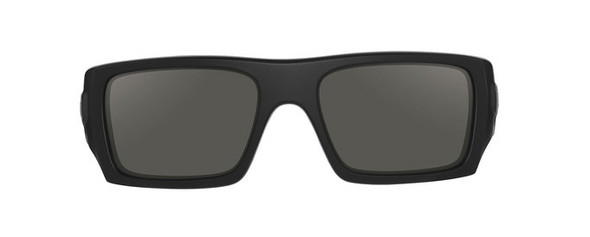 Oakley SI Ballistic Det Cord with Matte Black Frame and Grey Lens - Front
