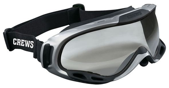 Crews PGX1 Safety Goggle with Elastic Strap and Clear Anti-Fog Lens PGX110AF