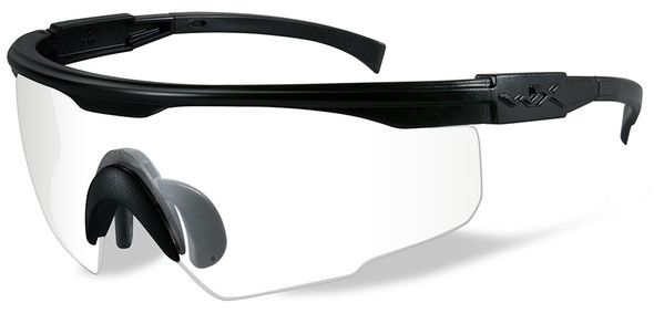 Wiley X PT-1 Ballistic Safety Glasses with Black Frame and Clear Lens