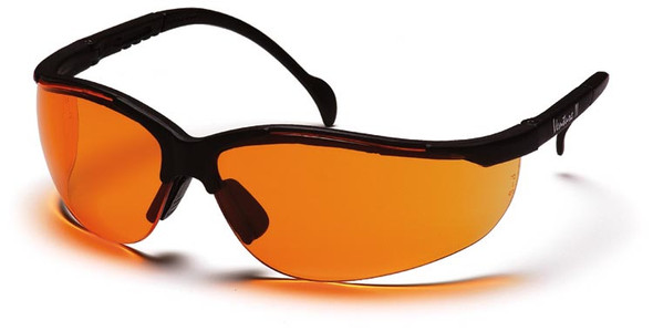 Pyramex Venture 2 Safety Glasses Black Frame Orange Lens SB1840S