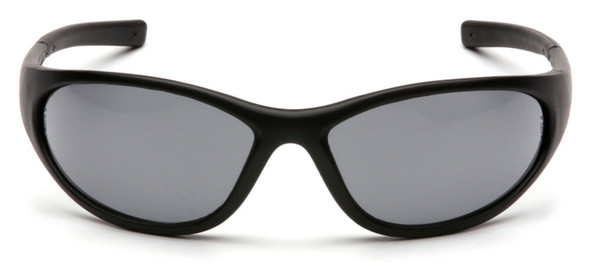 Pyramex Zone 2 Safety Glasses with Black Frame and Gray Lens - Front