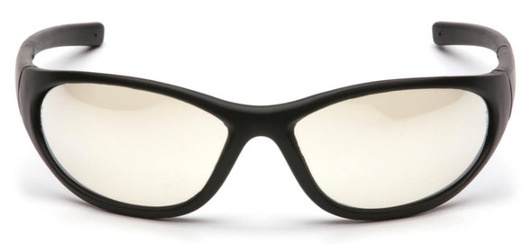 Pyramex Zone 2 Safety Glasses with Black Frame and Indoor/Outdoor Lens - Front