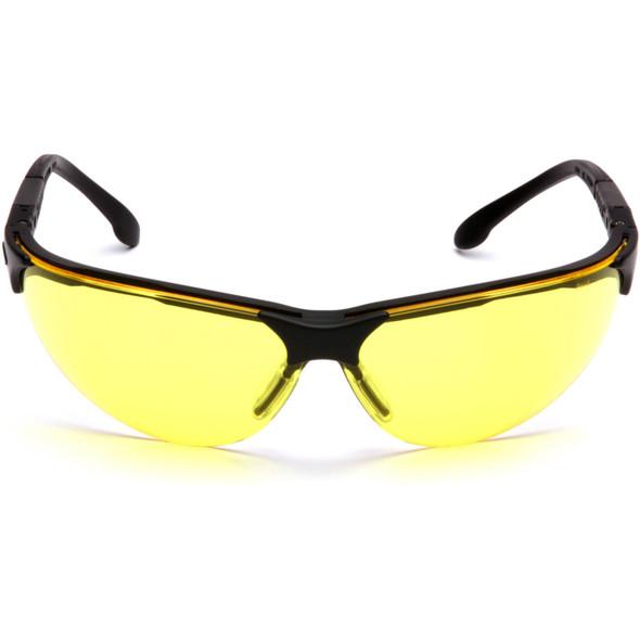 Pyramex Rendezvous Safety Glasses Black Frame Amber Lens SB2830S Front