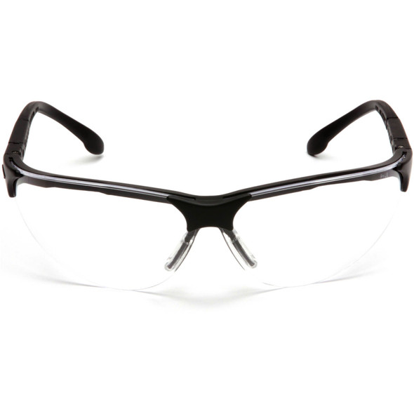Pyramex Rendezvous Safety Glasses Black Frame Clear Lens SB2810S Front