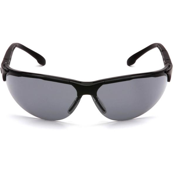 Pyramex Rendezvous Safety Glasses Black Frame Gray Lens SB2820S Front