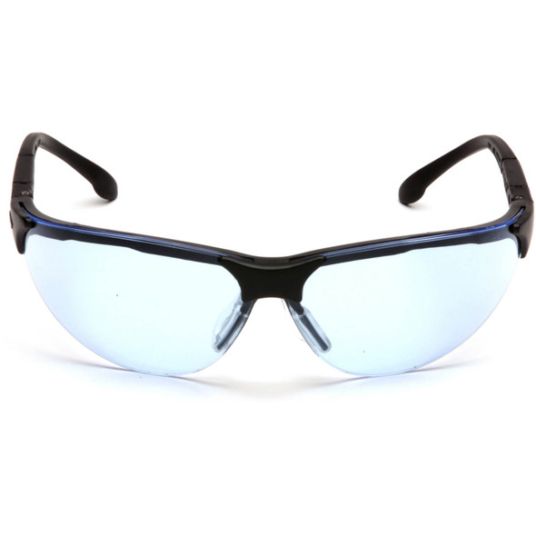 Pyramex Rendezvous Safety Glasses Black Frame Infinity Blue Lens SB2860S Front