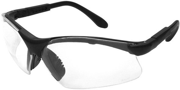 Radians Revelation Safety Glasses with Black Frame and Clear Anti-Fog Lens
