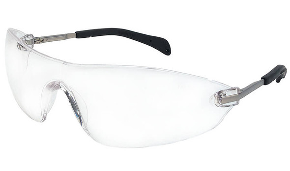 Crews Blackjack Elite Safety Glasses with Clear Anti-Fog Lens