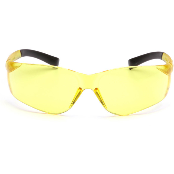 Pyramex Ztek Safety Glasses with Amber Lens S2530S Front View
