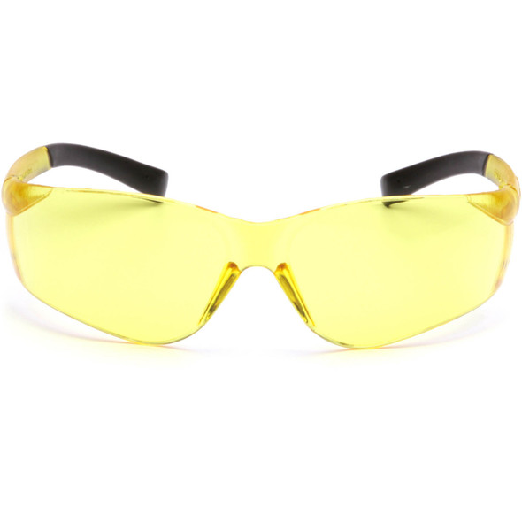 Pyramex Mini Ztek Safety Glasses with Amber Lens S2530SN Front View
