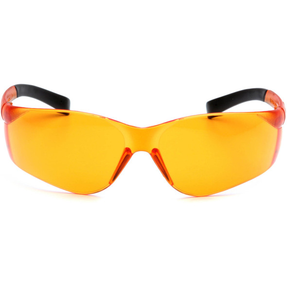Pyramex Ztek Safety Glasses with Orange Lens S2540S Front View