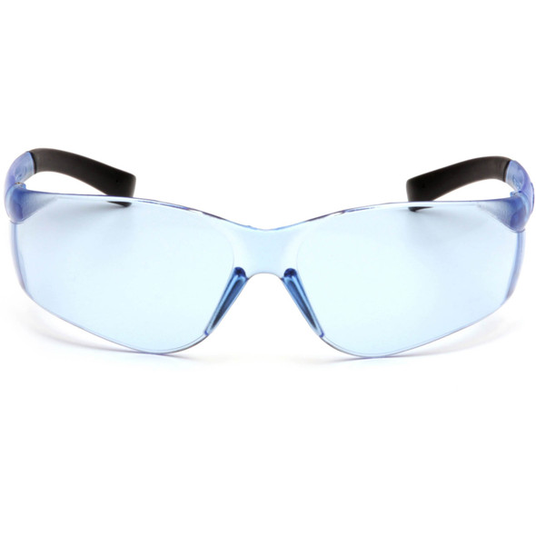 Pyramex Ztek Safety Glasses with Infinity Blue Lens S2560S Front View