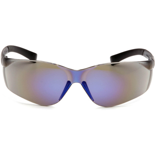 Pyramex Ztek Safety Glasses with Blue Mirror Lens S2575S Front View