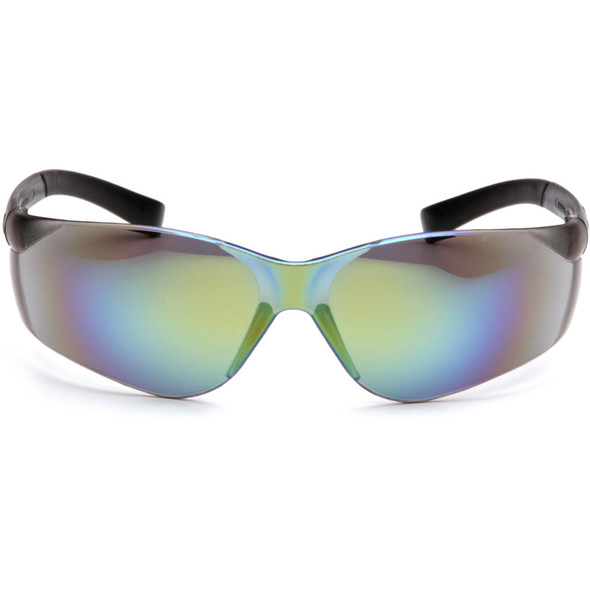 Pyramex Ztek Safety Glasses with Gold Mirror Lens S2590S Front View