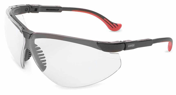 Uvex Genesis XC Safety Glasses Black Frame Clear Ultra Dura Lens S3300