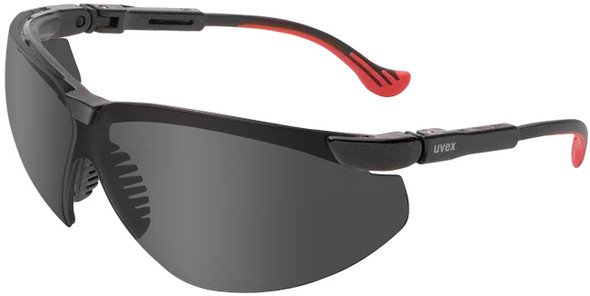 Uvex Genesis XC Safety Glasses Black Frame Gray Anti-Fog Lens S3301X