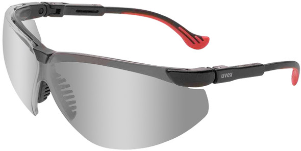 Uvex Genesis XC Safety Glasses Black Frame Mirror Lens S3308
