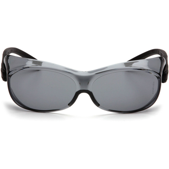 Pyramex S3520SJ OTS Safety Glasses Black Temples Gray Lens Front View