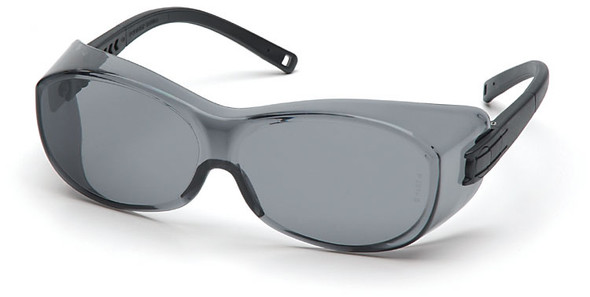 Pyramex S3520SJ OTS Safety Glasses Black Temples Gray Lens