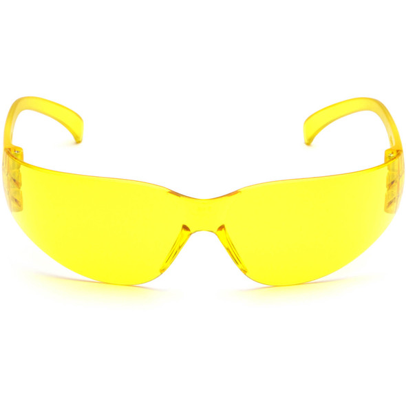 Pyramex Intruder Safety Glasses with Amber Lens S4130S Front View