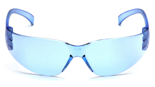 Pyramex Intruder Safety Glasses with Infinity Blue Lens Front View