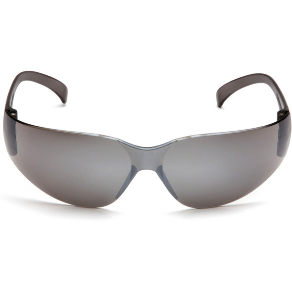 Pyramex Intruder Safety Glasses with Silver Mirror Lens S4170S Front View