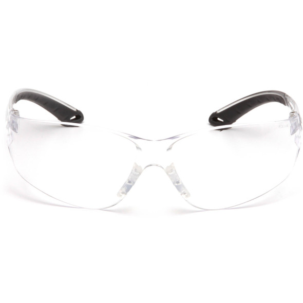 Pyramex Itek Safety Glasses with Clear Anti-Fog Lens S5810ST Front View