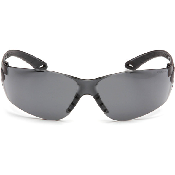 Pyramex Itek Safety Glasses with Gray Anti-Fog Lens S5820ST Front View