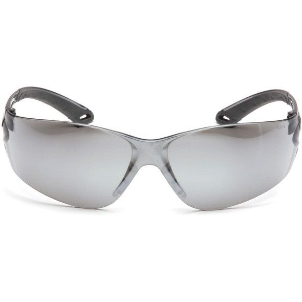 Pyramex Itek Safety Glasses with Silver Mirror Lens S5870S Front View