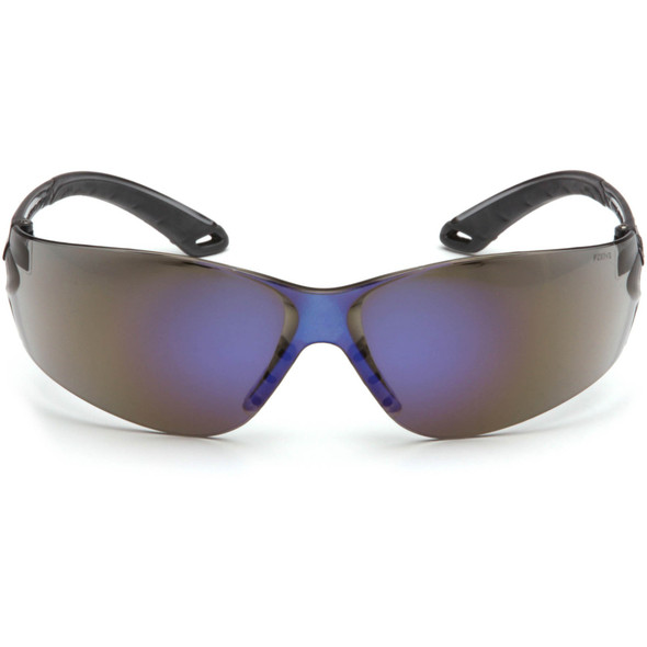 Pyramex Itek Safety Glasses with Blue Mirror Lens S5875S Front View