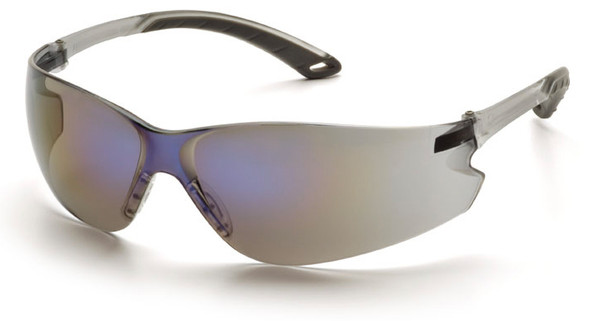 Pyramex Itek Safety Glasses with Blue Mirror Lens